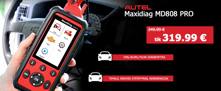Autel Maxidiag MD808 PRO Universali diagnostikos įranga