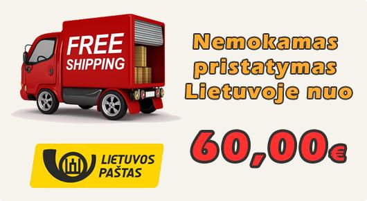 Nemokamas prekių pristatymas nuo 60,00 €