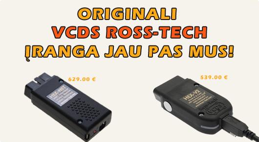 Originali VCDS Ross-TECH diagnostikos įranga jau pas mus!